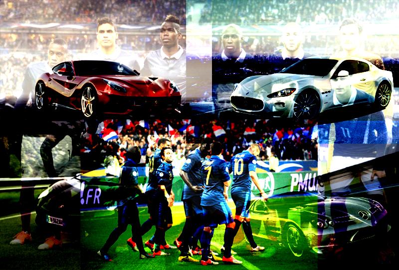 voitures des joueurs de l'équipe de france