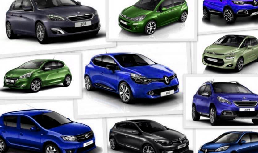 Top 10 des ventes de voitures en France en 2015