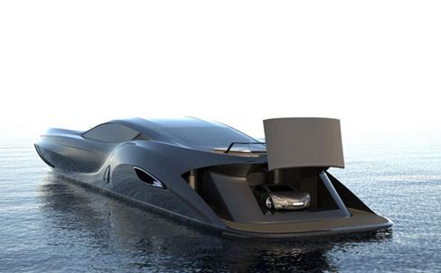 garage dans bateau insolite