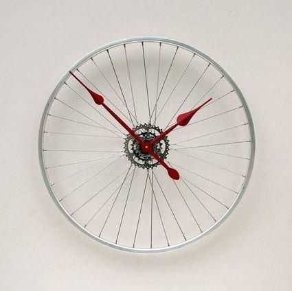 horloge recyclée jantes vélo