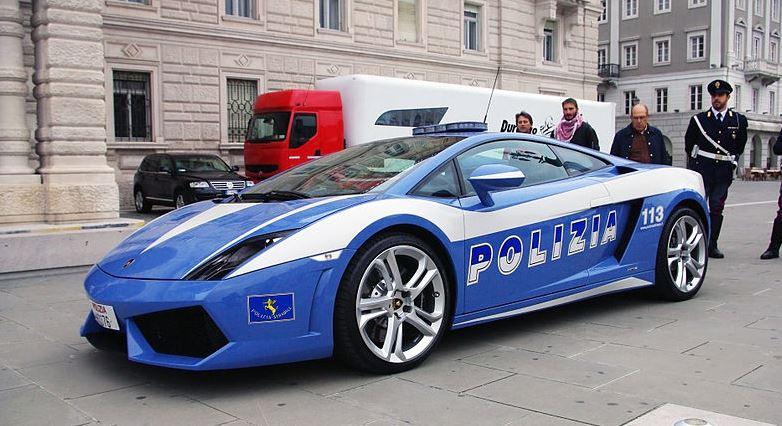 lamborghini gallardo vehicule police italie insolite
