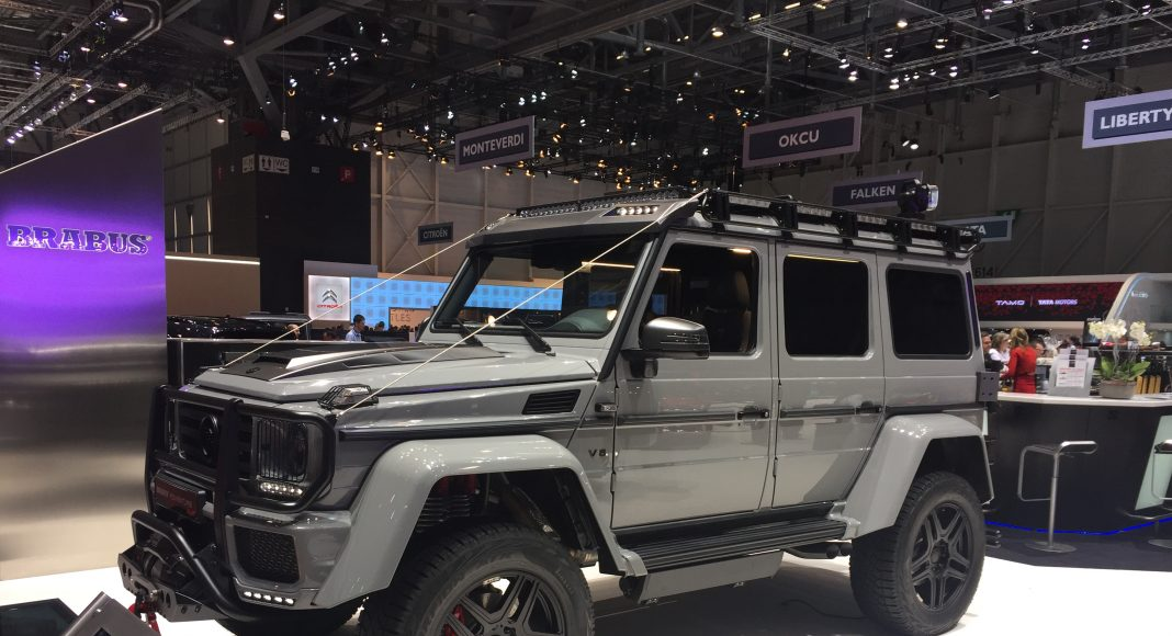 salon de geneve preparateur brabus mercedes 4x4