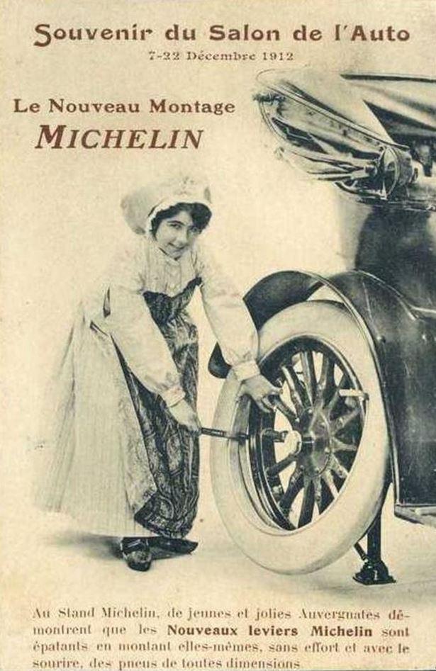 ancienne pub michelin vintage auto