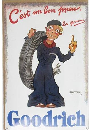 ancienne publicité pneu goodrich vintage