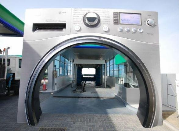 lavage auto insolite humour machine à laver