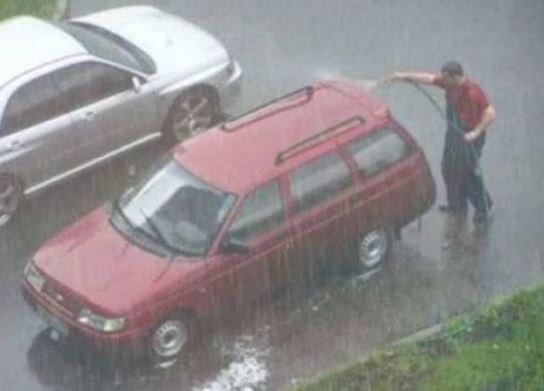 laver voiture par tous les temps humour