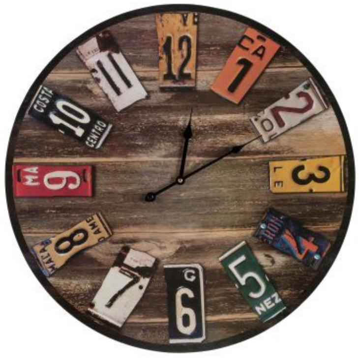 plaques d immatriculation recyclage déco horloge
