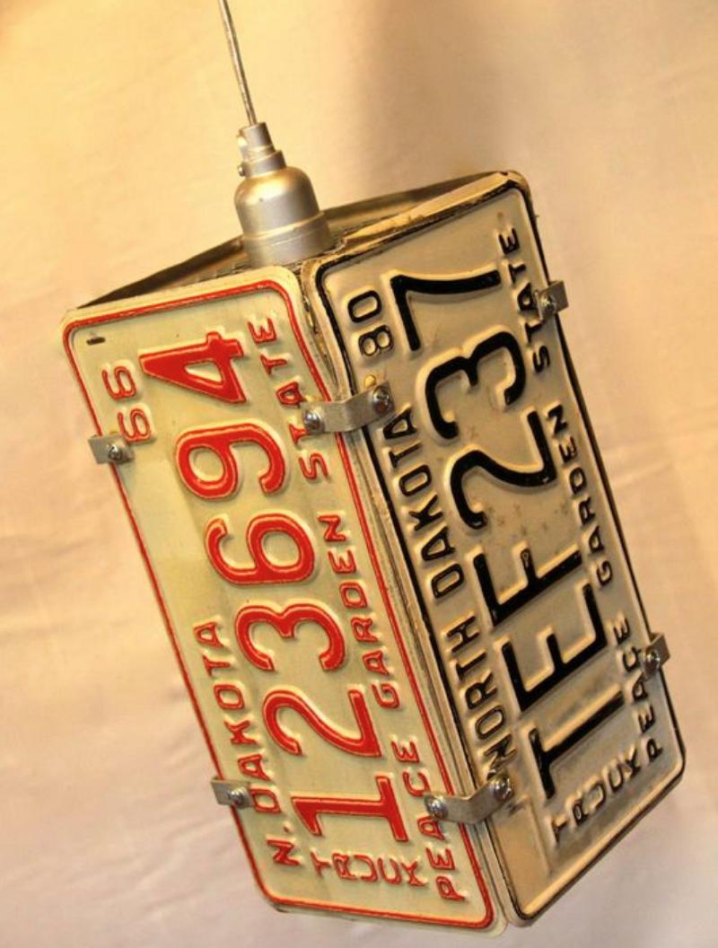 plaques d'immatriculation recyclée lumière décorative