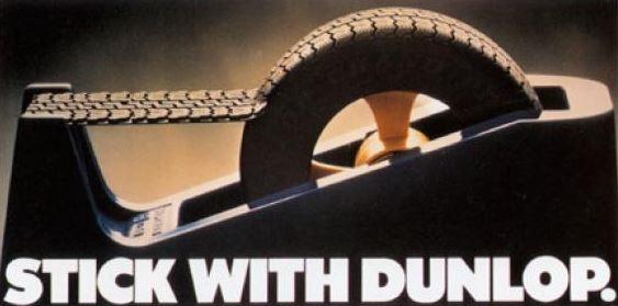 pub vintage dunlop pneumatique pneu