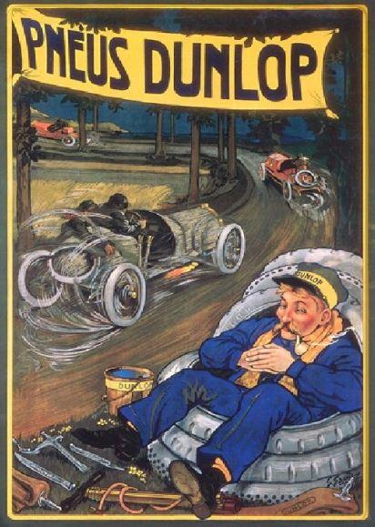 publicité pneu dunlop vintage