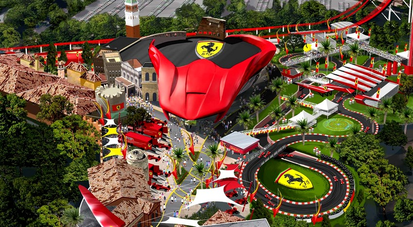 ferrari land port aventura parc attraction