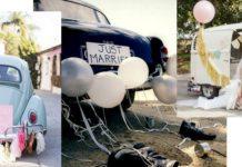 belles voitures de mariage décoration