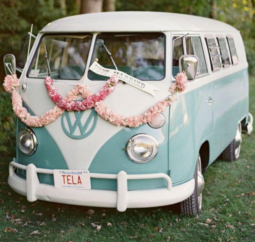 van pour mariage hippie insolite