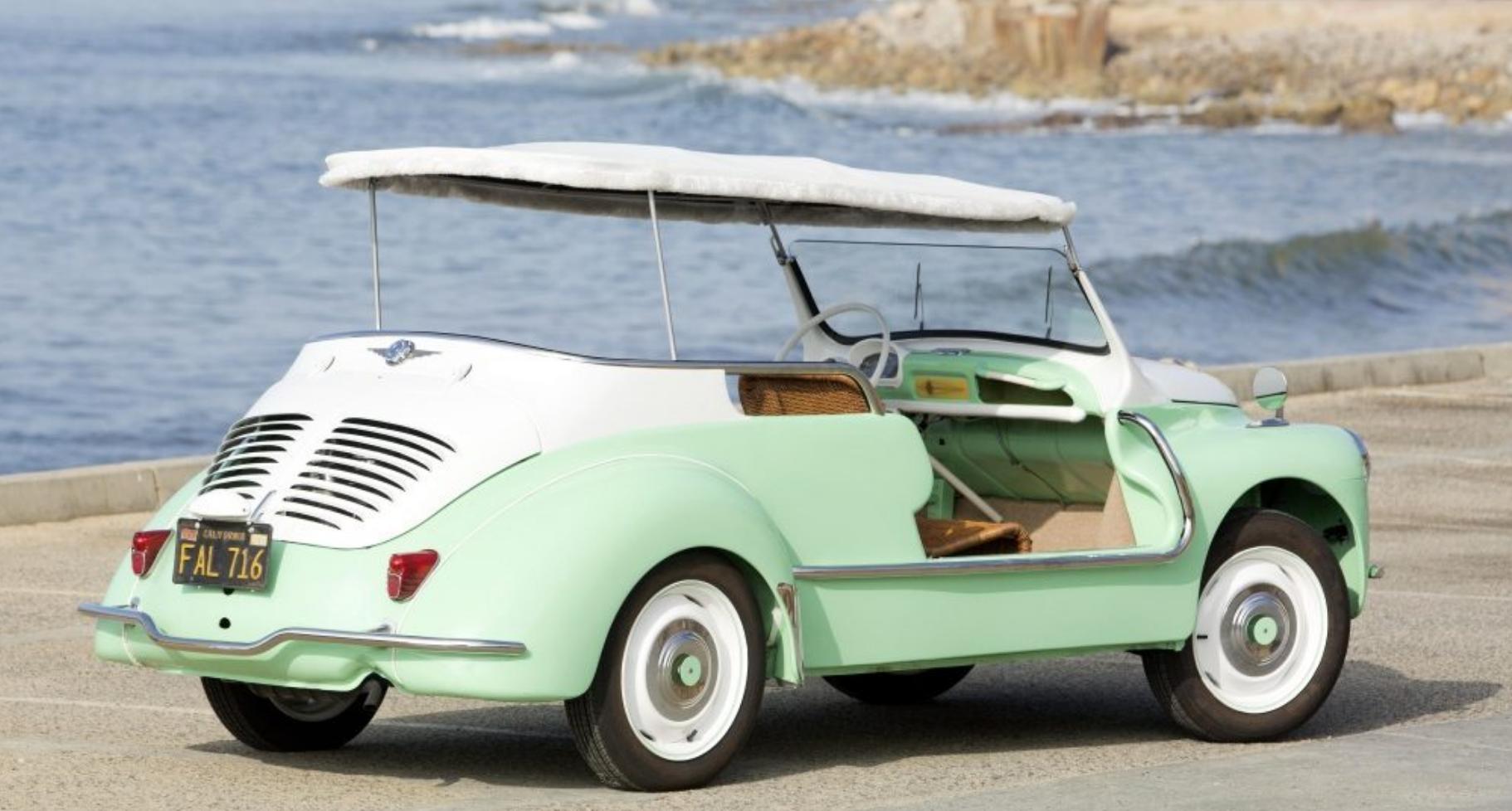 renault 4cv jolly voiture plage mer