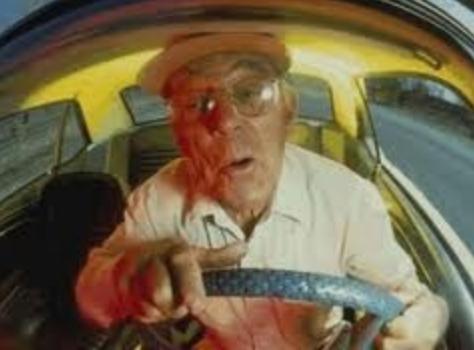 papi voiture volant conduite humour